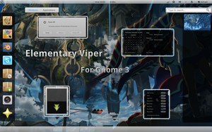 Elementary Viper Gnome shell by justviper