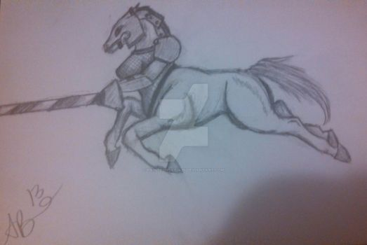 centaur jouster by PaintedWulf1435