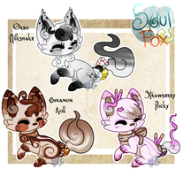 (Closed) Desserts SoulFox Adoptable Auction! by SetSaiI