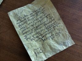 Letter from the fireplace mantel by MichaelRMaranda
