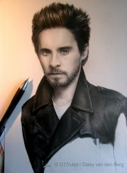 Drawing of Jared Leto WIP 4 by D17rulez