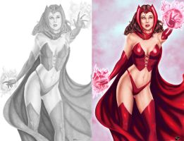 Scarlet Witch - Colors - Side by Side by TracyWong