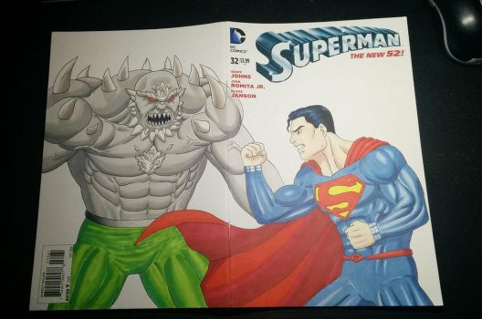 Superman vs Doomsday commission by The-Masterstyle