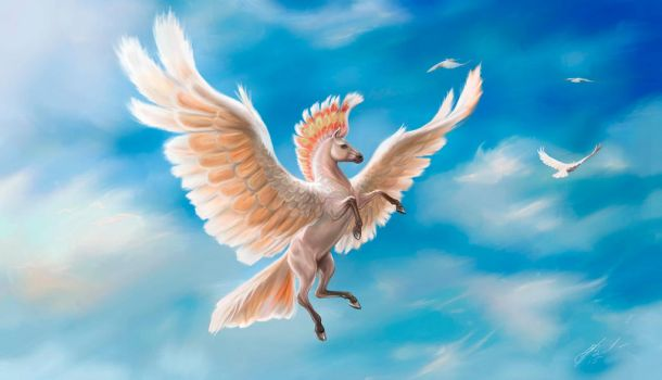 Pegasus - the Major Mitchell's cockatoo by Egretink