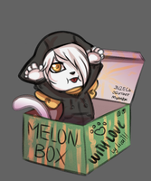 Melon Box by lizathehedgehog