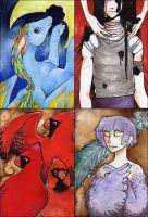 ACEO Flock by persian-pirate