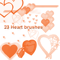 Hearts brushes by lunabeam18