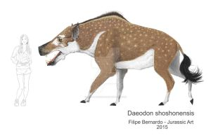 Daeodon by FilipePicasso