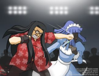 Uncle Mugen Takes Down Powertripping jp Meido by mugenjohncel