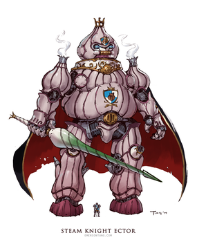 Steam Knight Ector by emersontung