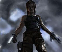 Lara Croft (2013) speed painting by ElusiveDrifter