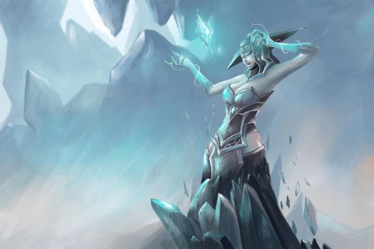 Lissandra The Ice Witch by daimoc-art