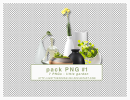 pack PNG#1 : little garden by justtheodora1003