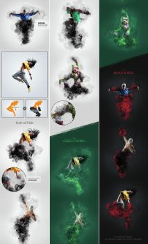 Smoke Exposure Photoshop Action by GraphicAssets