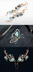 Mermaid's Bounty, Butterfly, Winter Roses by tishaia