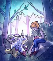 A Chat With Gabumon by Radioactive-Insanity