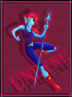 Awesome Undyne by thunderbolt3000