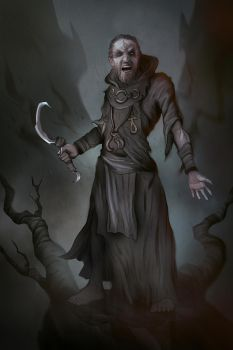 Commission: Cultist Illustration by VincentiusMatthew
