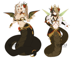 Paypal | Snake girl Adoptable Set | CLOSED by terukyu