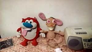My New Ren And Stimpy Plushes by SquirrelCat1998V2