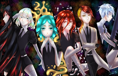 -HnK- Glisten in the starry sky by Zerii-chan