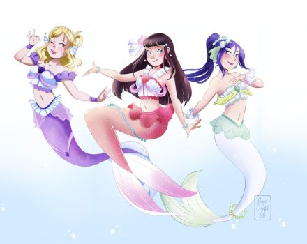 .: Mermay 2017 - Aqours serie - 3rd years trio :. by xSkyeCrystalx