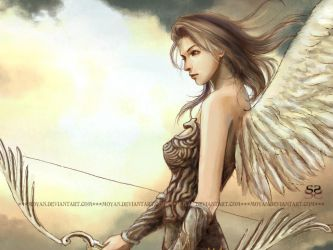 Cupid- wallpaper by moyan