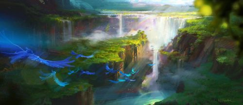 Rio 2 Grotto by NathanFowkesArt
