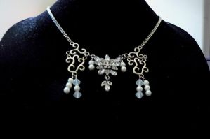 Crystal Flower Necklace by Beadedwolf22