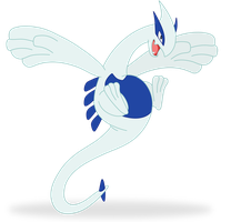 playful lugia by Elsdrake
