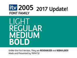 ITV 2005 Font Family by ThomasKong