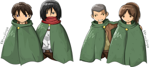 Attack on Titan pairs by kktwojingle