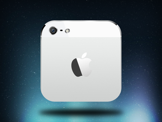 iPhone 5 iOS icon - white by nepst3r