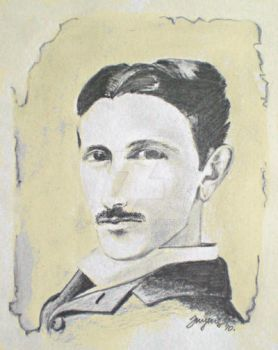 Nikola Tesla by art-zuza