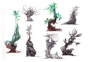 Sci-fi Plant Studies by BlindCorvid