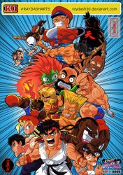 Super Street Fighter 2 Turbo. Vintage art style by Raydash30