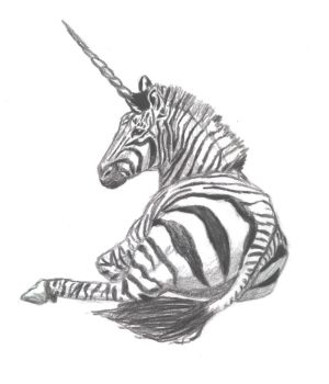 Zebra Unicorn by lil-Dose