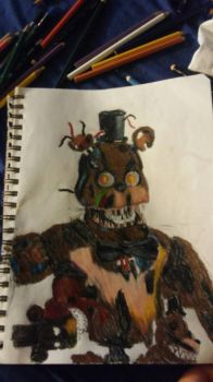 nightmare freddy by Th3Tur3GodMrbl3ach