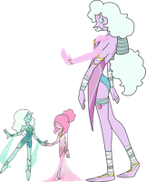 SU Teal And Pink Pearl Fusion Adopt (sold) by SmilesUpsideDown