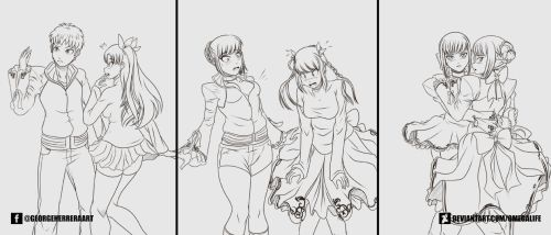 Shirou and Rin Transformation by omegalife