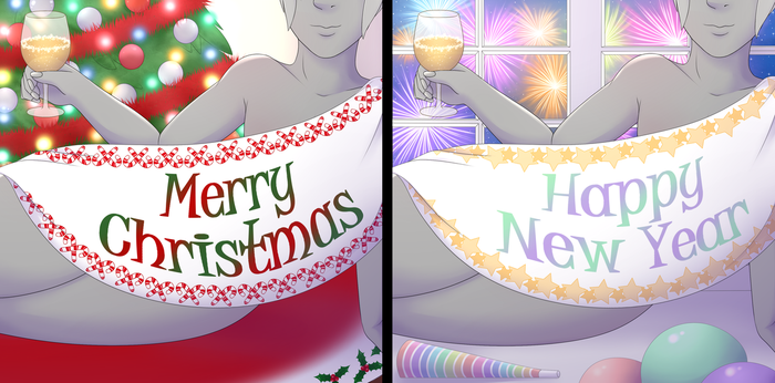 Holiday Banner YCH Auction -CLOSED- by RoseandherThorns