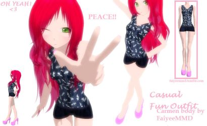MMD Outfit CO003 - DL by FaiyeeMMD