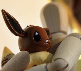 Holding A Eevee by RymNotrim