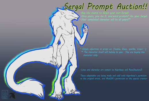 Sergal Prompt Auction ::OPEN:: by Rave-SkeeterZ