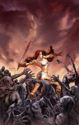 Red Sonja : Vacant Shell cover by PaulRenaud