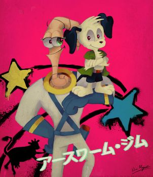 Earthworm Jim and Peter Puppy: Best Buddies by MissNeens