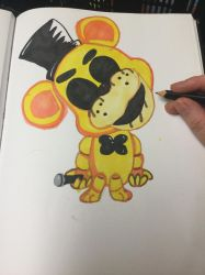 Golden Freddy chibi number three by CrossPadCastle