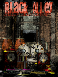 Black Alley Poster by SmoovArt