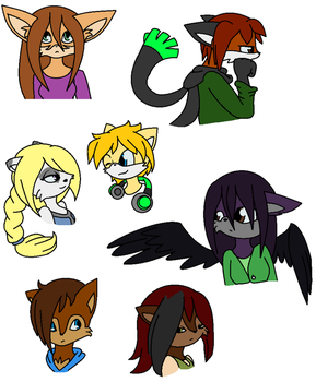 Fan Characters Galore... by fennecthefox15