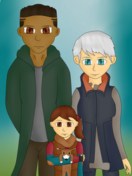 Kara, Alice and Luther (DBH) by MuskyCat90
